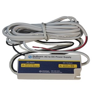 Power Supply for Bullhorn Products, Switching, 20W, 12VDC